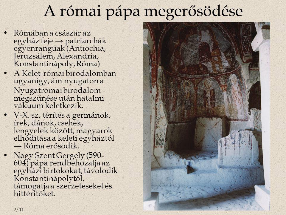 A római pápa megerősödése