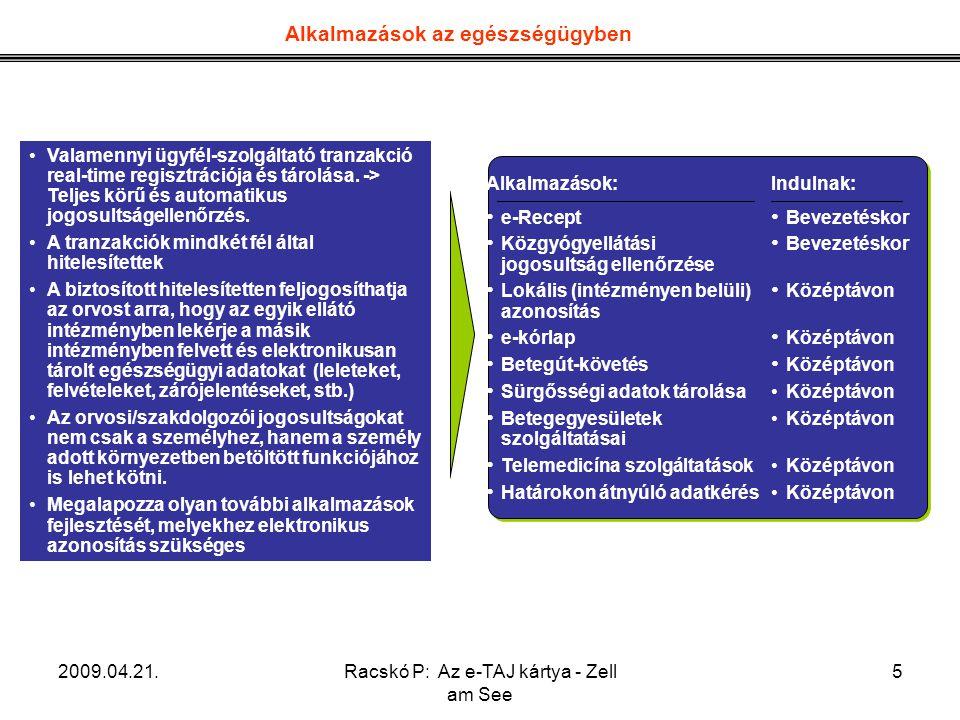 Racskó P: Az e-TAJ kártya - Zell am See