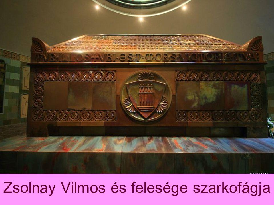 Zsolnay Vilmos és felesége szarkofágja