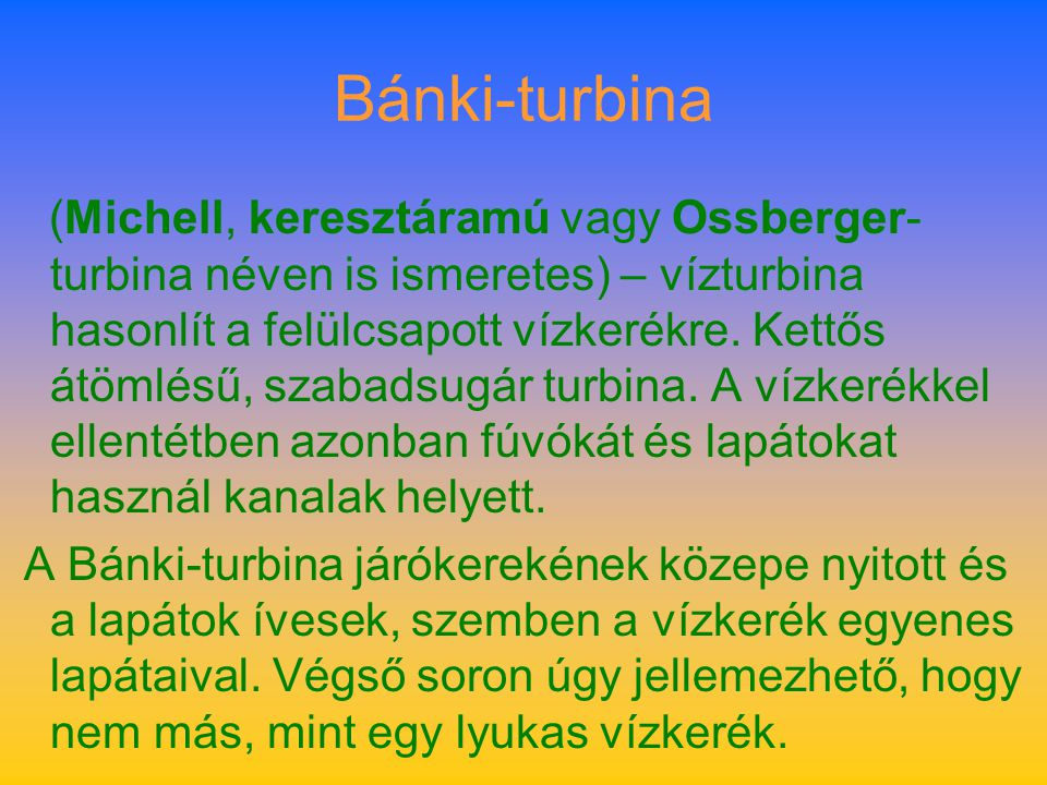 Bánki-turbina