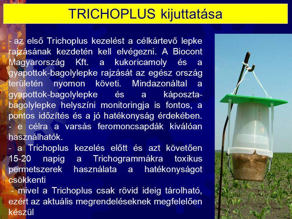 TRICHOPLUS kijuttatása