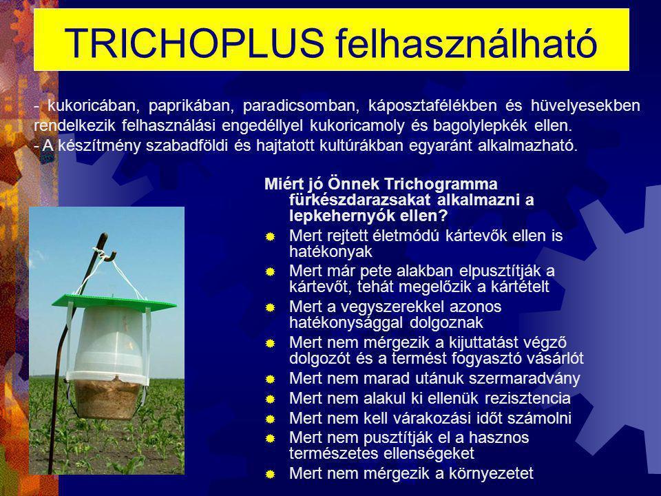 TRICHOPLUS felhasználható