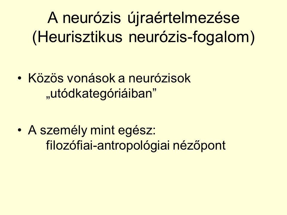 A neurózis újraértelmezése (Heurisztikus neurózis-fogalom)