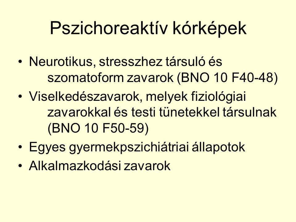 Pszichoreaktív kórképek