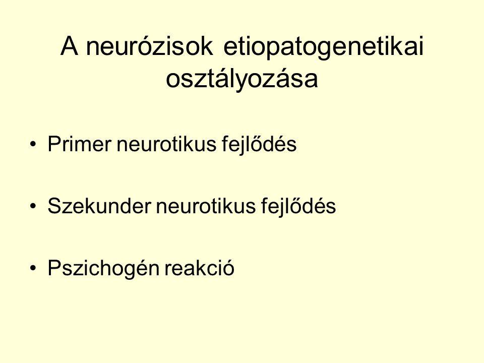 A neurózisok etiopatogenetikai osztályozása
