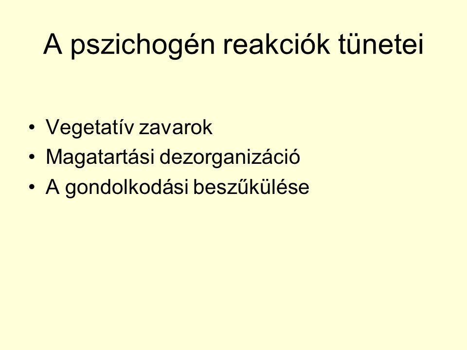 A pszichogén reakciók tünetei