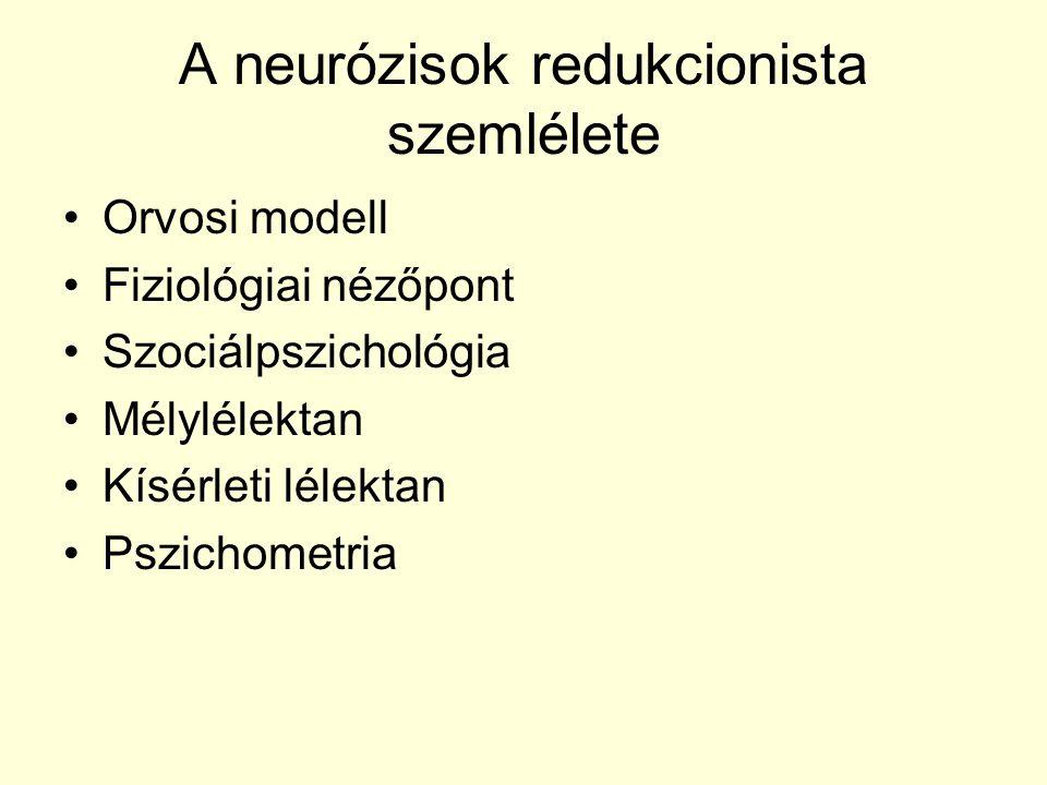 A neurózisok redukcionista szemlélete