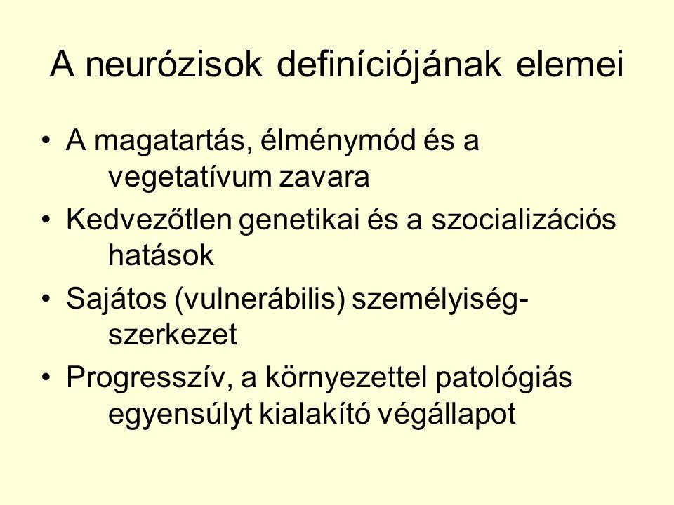 A neurózisok definíciójának elemei