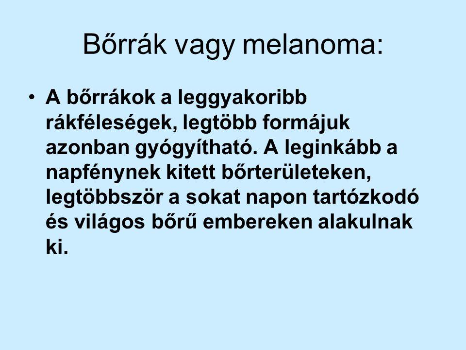 Bőrrák vagy melanoma: