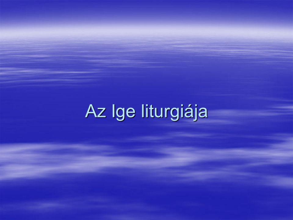 Az Ige liturgiája