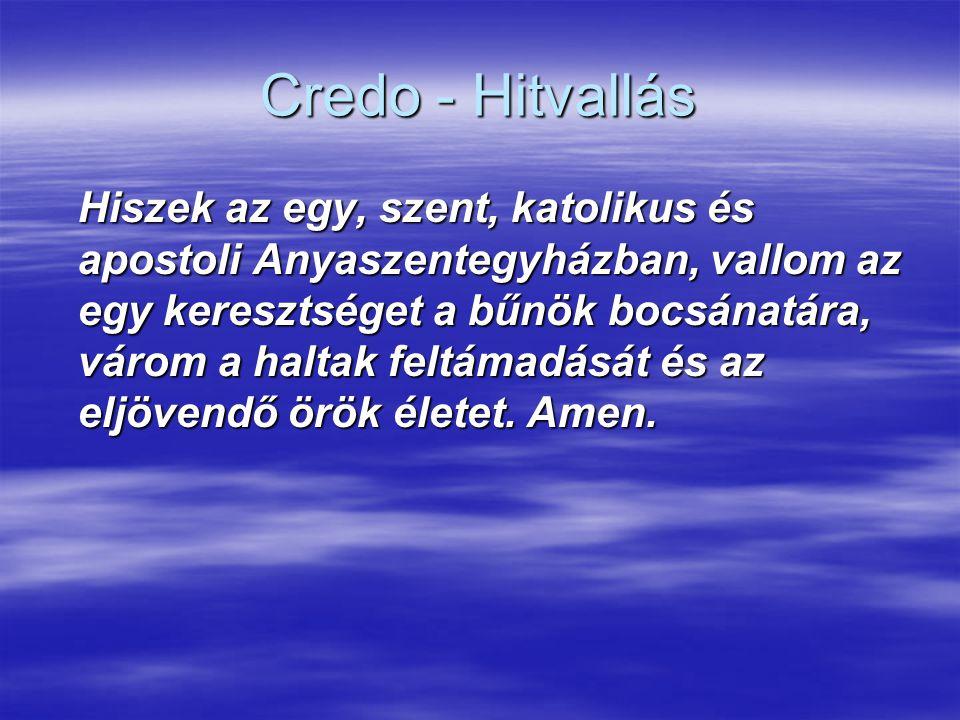 Credo - Hitvallás