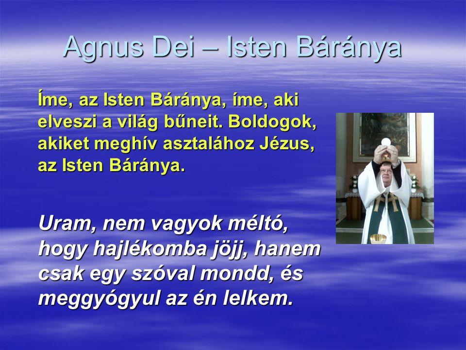 Agnus Dei – Isten Báránya