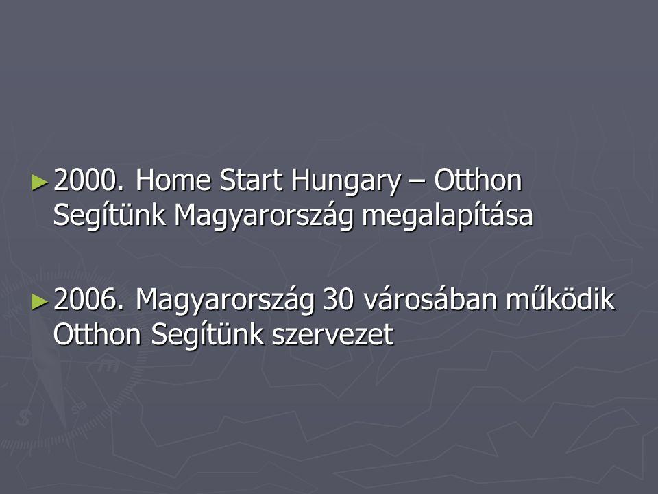2000. Home Start Hungary – Otthon Segítünk Magyarország megalapítása