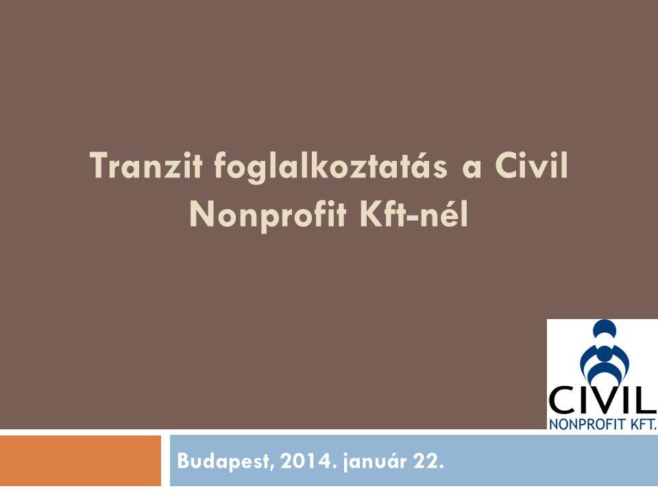 Tranzit foglalkoztatás a Civil Nonprofit Kft-nél