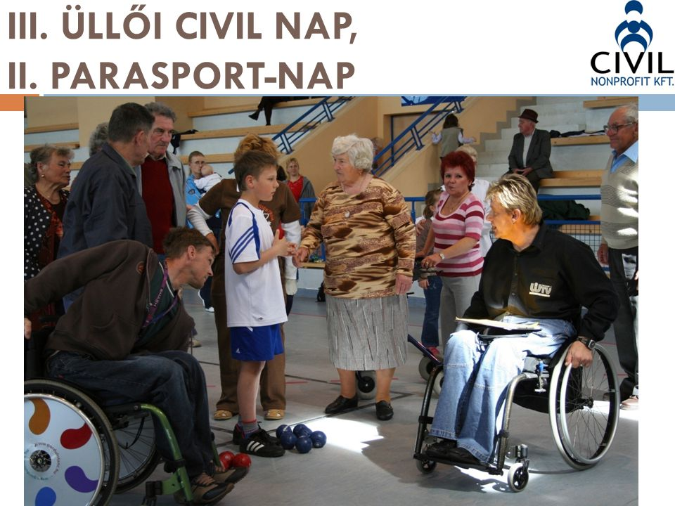 III. ÜLLŐI CIVIL NAP, II. PARASPORT-NAP