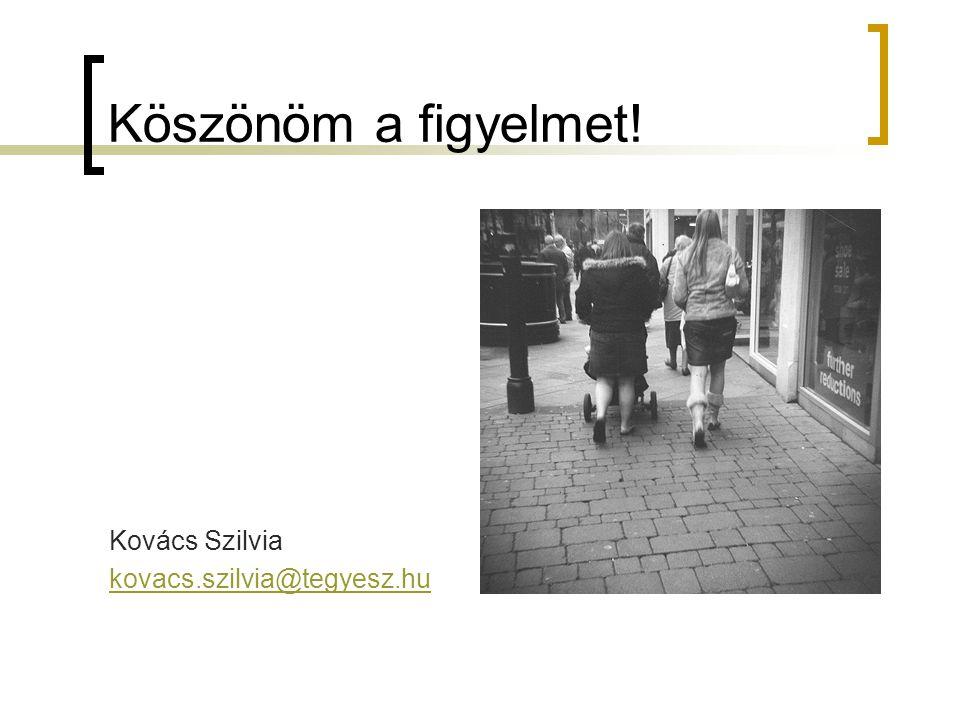 Köszönöm a figyelmet! Kovács Szilvia kovacs.szilvia@tegyesz.hu