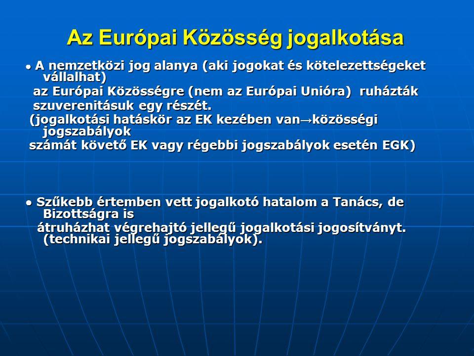 Az Európai Közösség jogalkotása