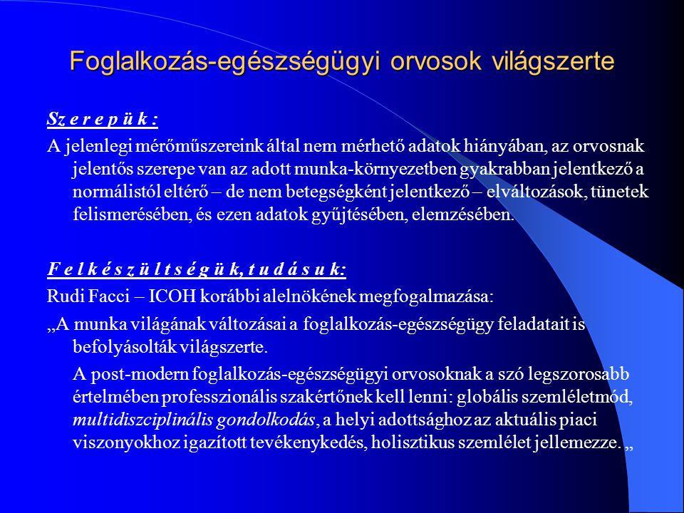 Foglalkozás-egészségügyi orvosok világszerte