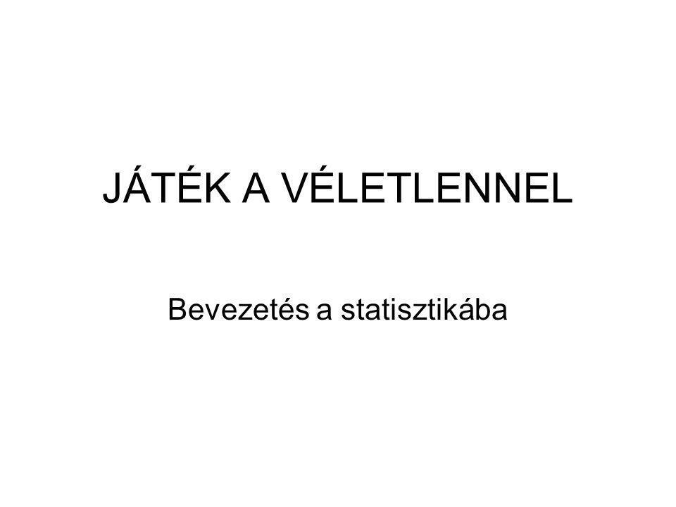 Bevezetés a statisztikába