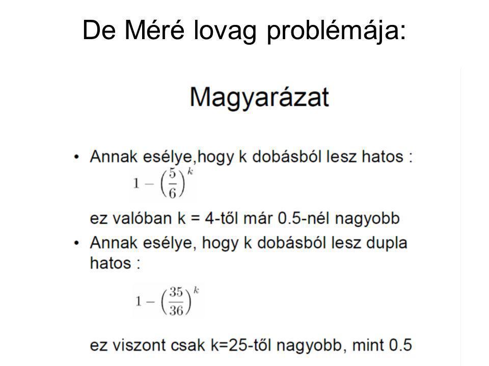 De Méré lovag problémája: