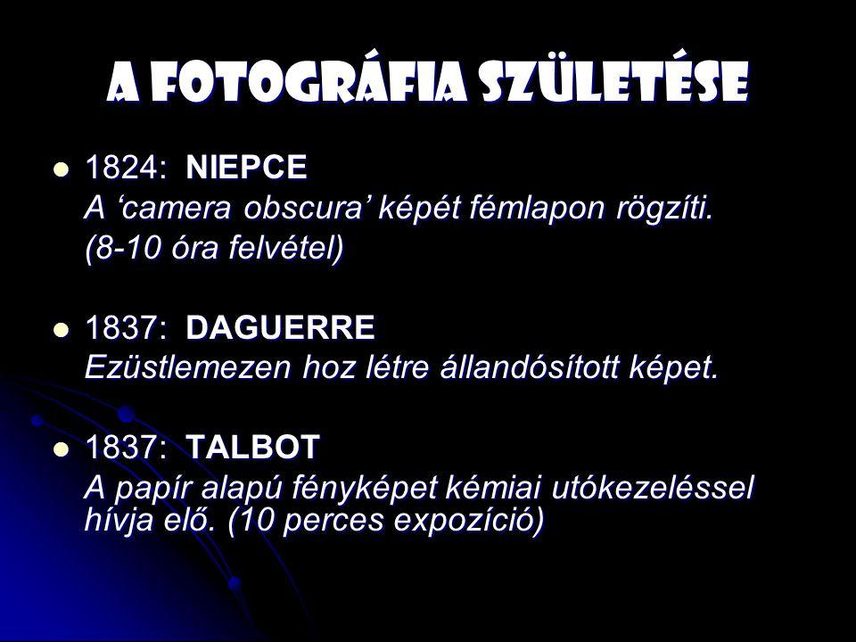 A fotográfia születése