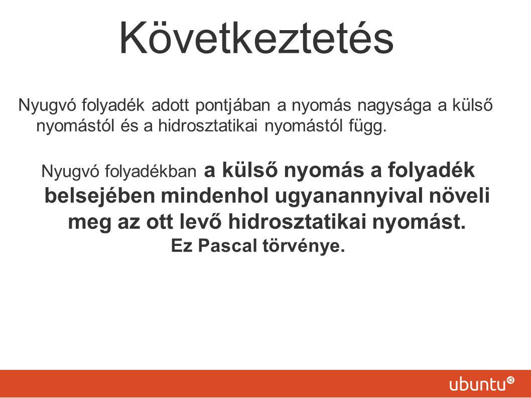 Következtetés Ez Pascal törvénye.