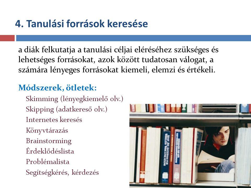 4. Tanulási források keresése