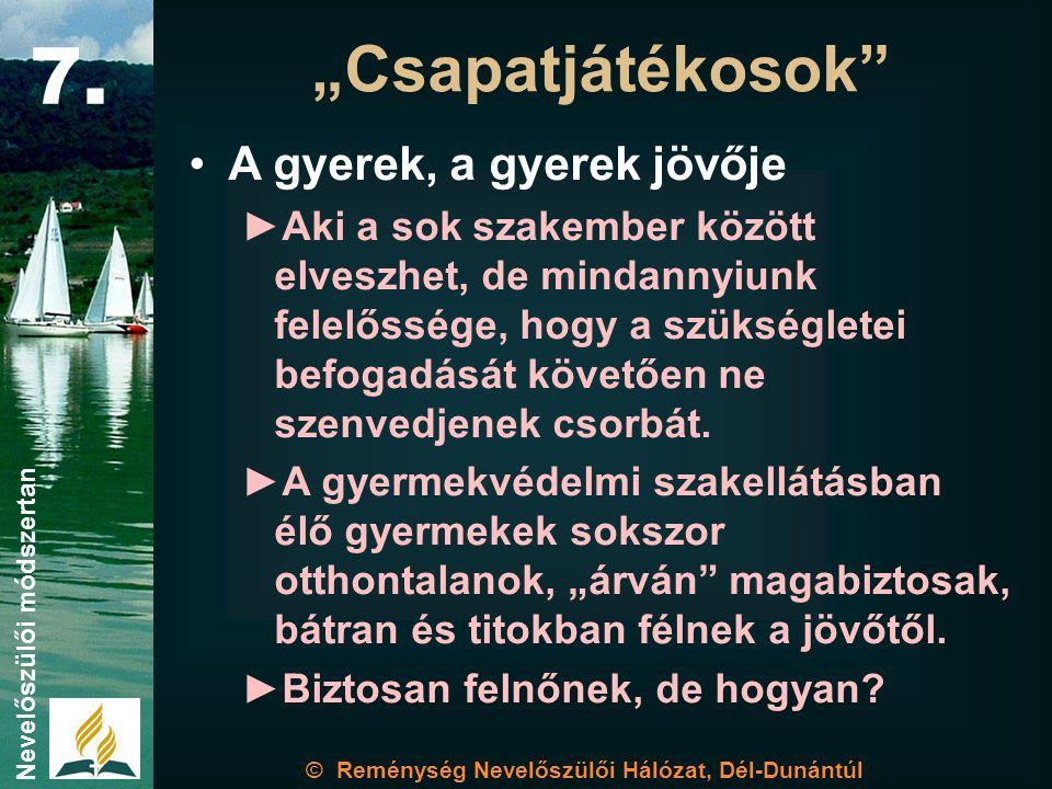 © Reménység Nevelőszülői Hálózat, Dél-Dunántúl