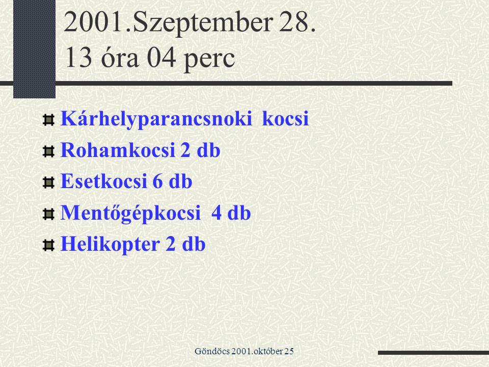 2001.Szeptember 28. 13 óra 04 perc Kárhelyparancsnoki kocsi