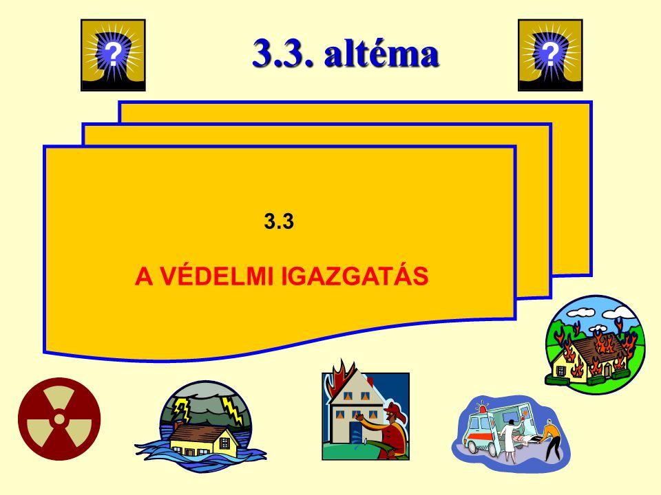 3.3. altéma 3.3 A VÉDELMI IGAZGATÁS 25
