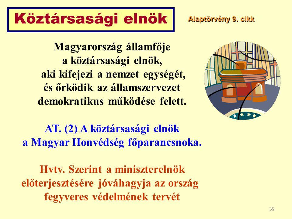 Köztársasági elnök Magyarország államfője a köztársasági elnök,