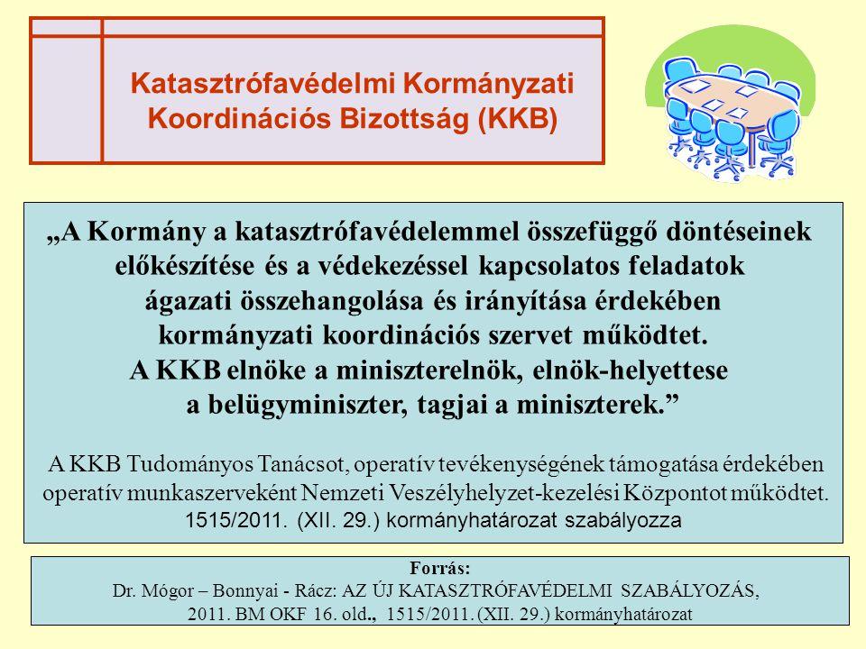 Katasztrófavédelmi Kormányzati Koordinációs Bizottság (KKB)