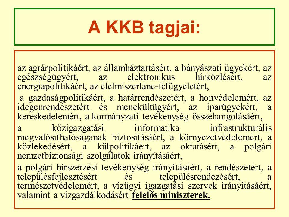 A KKB tagjai: