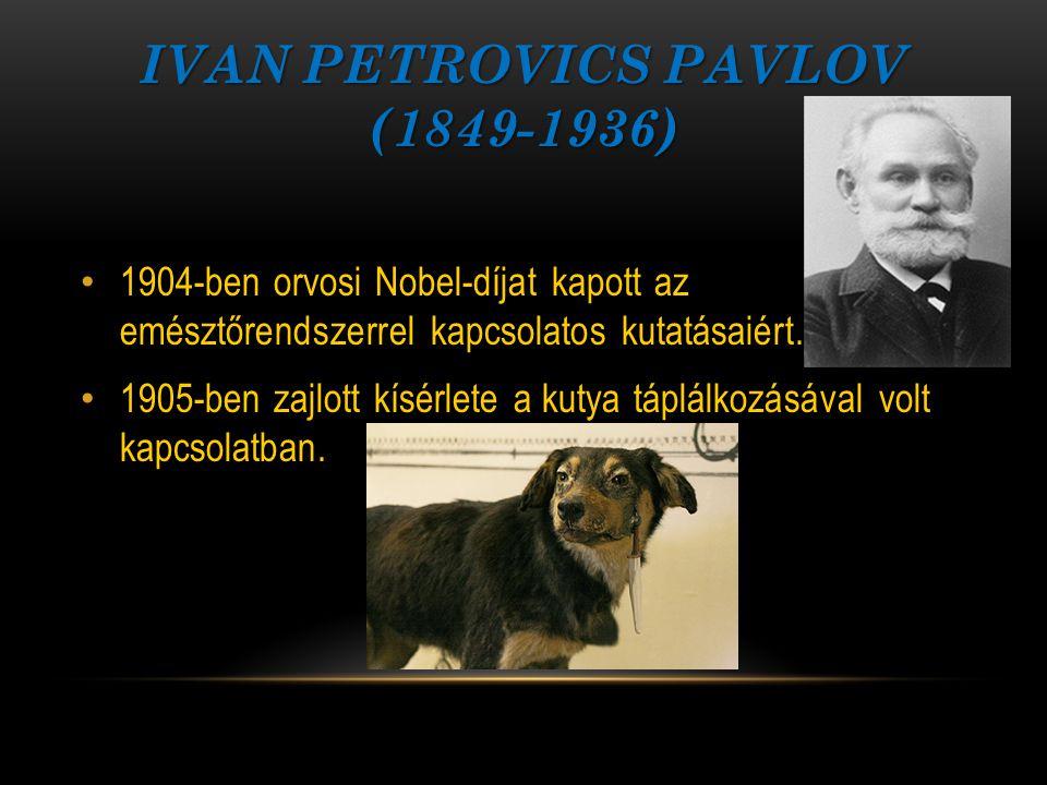 Ivan Petrovics Pavlov (1849-1936)