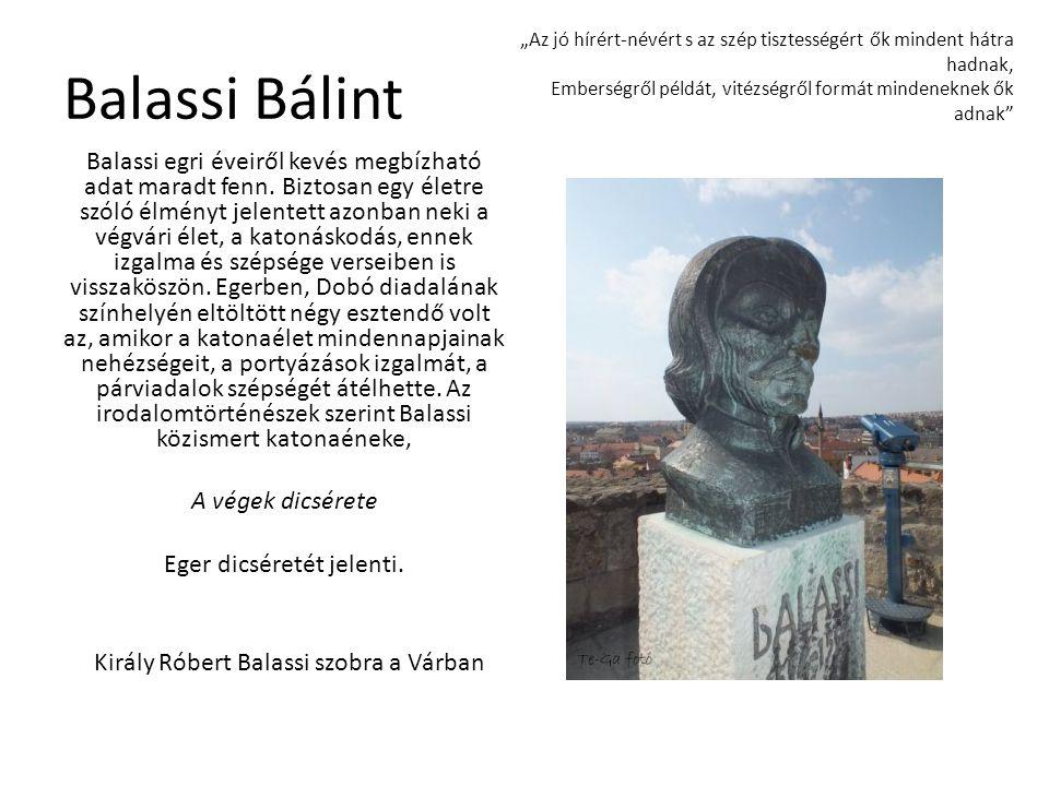 Király Róbert Balassi szobra a Várban
