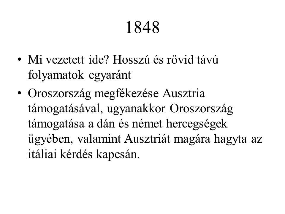 1848 Mi vezetett ide Hosszú és rövid távú folyamatok egyaránt