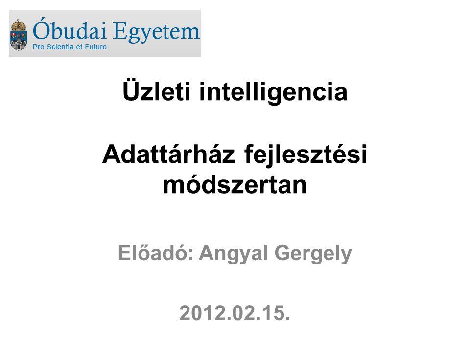 Üzleti intelligencia Adattárház fejlesztési módszertan