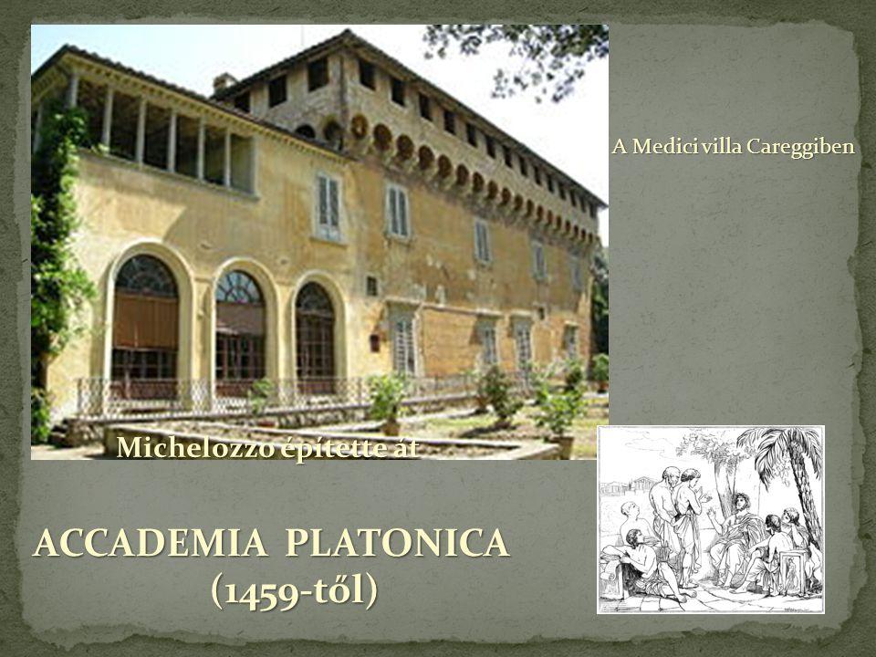 ACCADEMIA PLATONICA (1459-től) Michelozzo építette át