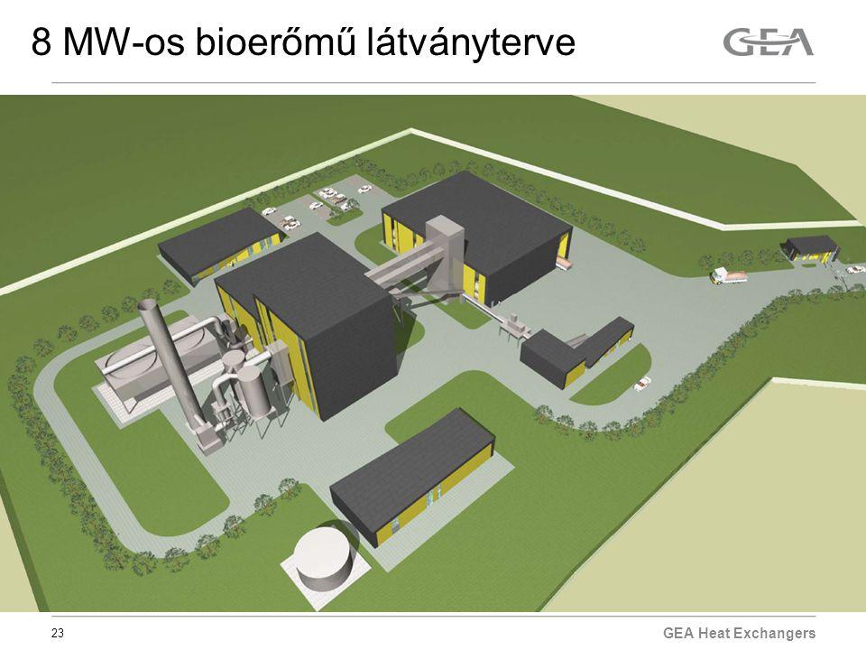 8 MW-os bioerőmű látványterve
