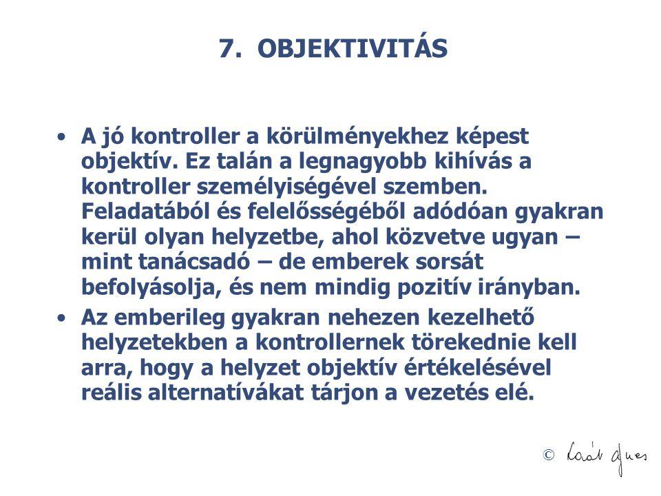 7. OBJEKTIVITÁS