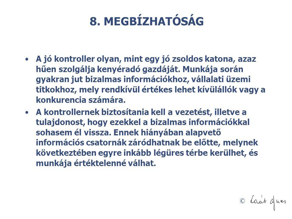 8. MEGBÍZHATÓSÁG