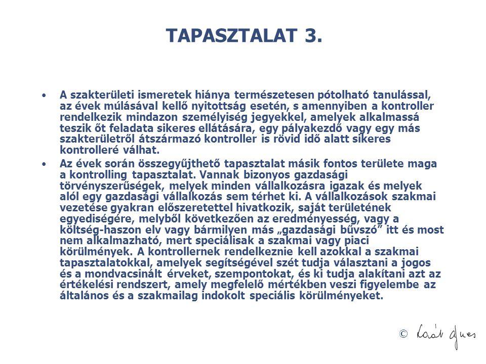 TAPASZTALAT 3.