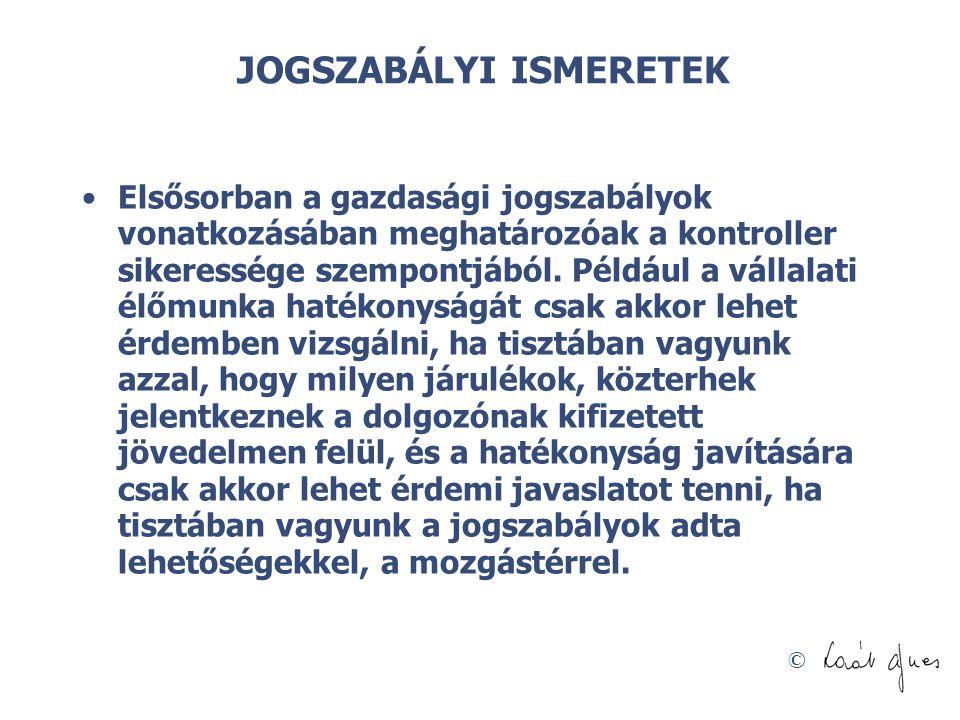 JOGSZABÁLYI ISMERETEK
