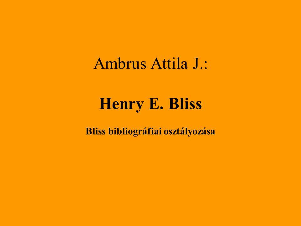 Bliss bibliográfiai osztályozása