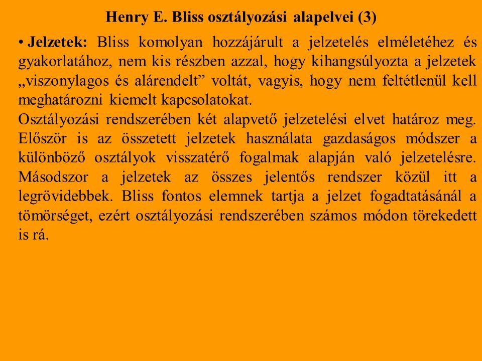 Henry E. Bliss osztályozási alapelvei (3)