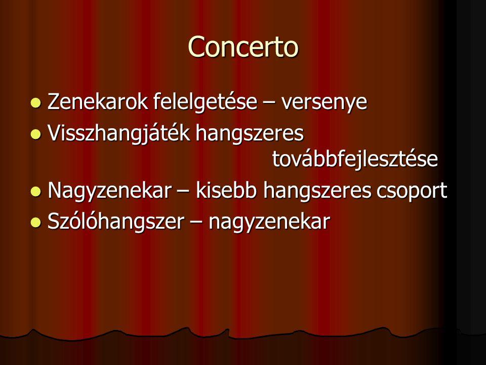Concerto Zenekarok felelgetése – versenye