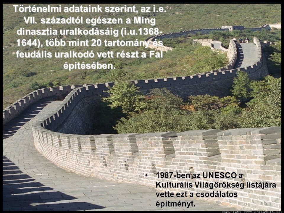 Történelmi adataink szerint, az i. e. VII