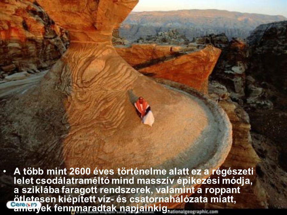 A több mint 2600 éves történelme alatt ez a régészeti lelet csodálatraméltó mind masszív épikezési módja, a sziklába faragott rendszerek, valamint a roppant ötletesen kiépített víz- és csatornahálózata miatt, amelyek fennmaradtak napjainkig.