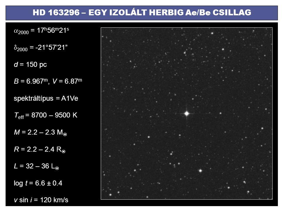 HD 163296 – EGY IZOLÁLT HERBIG Ae/Be CSILLAG