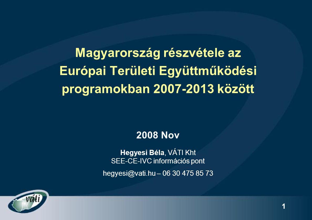 Magyarország részvétele az Európai Területi Együttműködési
